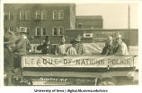 Parody of League of Nations, Mecca Day parade, The University of Iowa, 1919