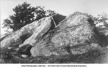 Compound fold of Lower Cambrian on top of Boardman Hill, Rutland, Vt., late 1890s or early 1900s