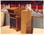 Looking out from behind the empty podium at the Republican National Convention, Kansas City, Mo., August 1976