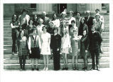 School of Libray Science graduates and faculty, The University of Iowa, May 1972