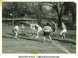 Field hockey game, The University of Iowa, 1940s