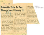 Friendship train to pass through Iowa February 12