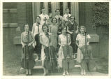 All-State cello players with instruments, The University of Iowa, 1930