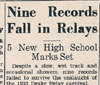 Drake Times-Delphic, 1933, Nine Records Fall in Relays