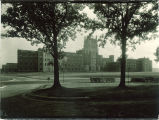Southwest view of General Hospital, the University of Iowa, 1930s?