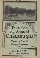 1928 Fairfield Chautauqua program