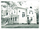 Shambaugh House at its original location at 219 North Clinton Street, the University of Iowa, August 1956