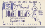 Drake Relays Promotional Post Card, 1946