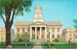 Old Capitol east facade, the University of Iowa, 1930s?