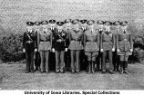 Staff, advanced course infantry, The University of Iowa, 1933
