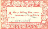 """""""A merry widow hat, sometimes, covers a multitude of sins,"""" September 6, 1910"""