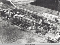 Aerial view Homestead, Homestead, Iowa, 194-
