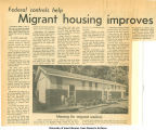"""Migrant housing improves,"" 1960s"