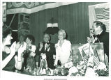Mary Louise Smith receiving applause at Nassau County fundraiser, Haupauge, N.Y., June 19, 1975