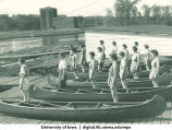 Launching canoes, The University of Iowa, 1937