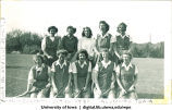 Alumnae field hockey team at Homecoming, The University of Iowa, October 18, 1948