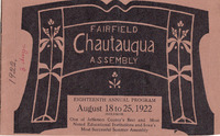 1922 Fairfield Chautauqua program