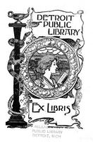 Detroit Public Library: Ex Libris bookplate