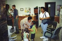 The Covington's and Theresa at the going away party in May 2000.