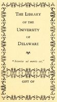 University of Delaware Library Bookplate