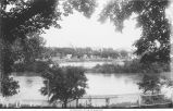 Iowa River high water, Iowa City, Iowa, late 1890s or early 1900s