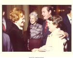 First Lady Betty Ford, Mary Louise Smith, William Brock, and wife Laura Brock at White House reception, Washington, D.C., January 13, 1977