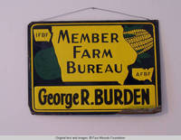George R. Burden metal Farm Bureau sign