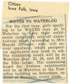 WAVES to Waterloo