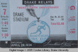 Drake Relays, 1934, Admission Ticket
