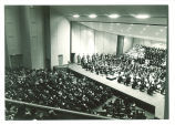 Orchestra and choir concert in Hancher Auditorium, The University of Iowa, 1972