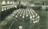 Men's physical education class in Old Armory, The University of Iowa, March 1927