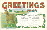 """Greetings from Rippey Business Firms,"" March 4, 1911"