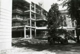 View of 3rd library addition construction, 1981