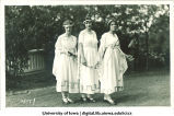 Women dressed as the Fates, The University of Iowa, 1920s?