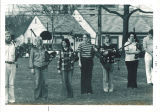 Scottish Highlanders bagpipe practice, The University of Iowa, 1974