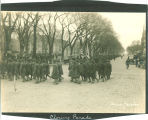 Armistice Day closing parade, The University of Iowa, November 11, 1918