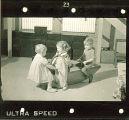 Children on indoor seesaw, The University of Iowa, January 12, 1938