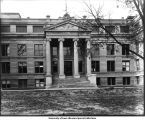 East porch of New Science Building, The University of Iowa, October 1907