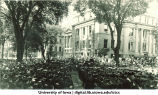 Commencement to the east of Schaeffer Hall, The University of Iowa, June 1922