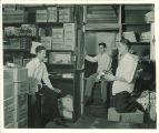 Food service workers in stock room, Iowa Memorial Union, the University of Iowa, 1940s