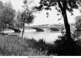 Iowa Avenue Bridge from west bank, Iowa City, Iowa, June 1927