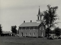 Ceres Church (St. Peter's German Evangelical Lutheran) at Ceres, Iowa  -1950s