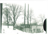 Temporary heating shack on west campus, the University of Iowa, February 1923