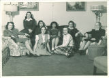 Sorority women with house mother, The University of Iowa, 1950s
