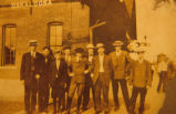 Outside a Depot in Oskaloosa, Iowa, Circa 1915