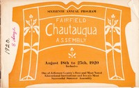 1920 Fairfield Chautauqua program