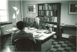 Willard Boyd in College of Law office, The University of Iowa, 1950s