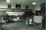 School children displaying projects for open house, The University of Iowa, June 1923