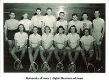 Badminton class, The University of Iowa, 1940s