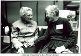 Mildred Wirt Benson and Dorothy Moeller at the Nancy Drew Conference, The University of Iowa, April 17, 1993